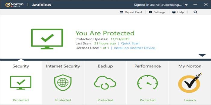 Norton Antivirus Security System