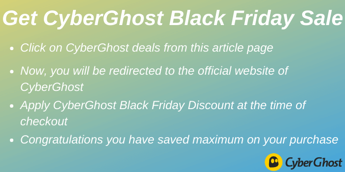 Get CyberGhost Black Friday Sale