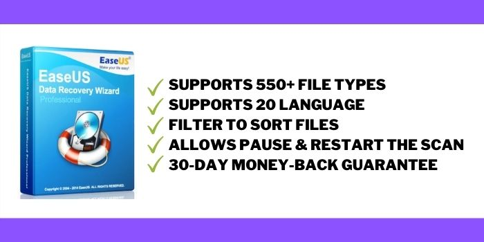 EaseUs Data Recovery Wizard Software Features