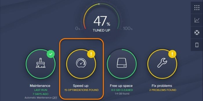 Avast cleanup premium user interface
