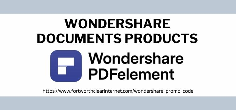 Wondershare Documents Products